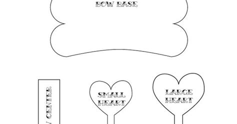 felt bow tie template printable bow tie pattern template baby