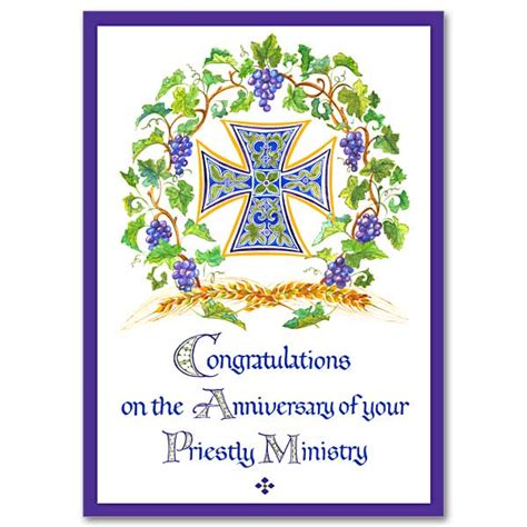 free printable ordination anniversary cards your priestly ministry ordination anniversary card general