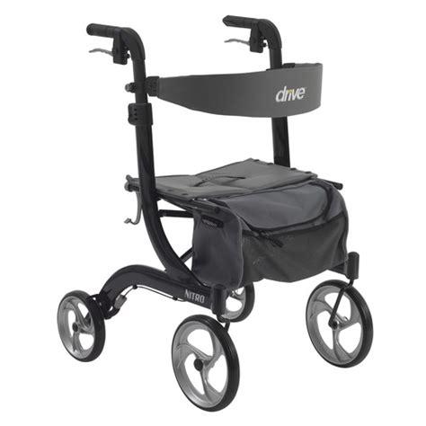 drive nitro rollator drive medical nitro euro style walker rollator black