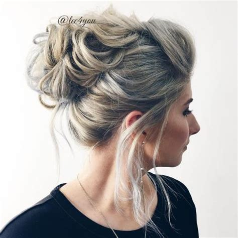 medium length volume updo 40 picture perfect hairstyles for long thin hair