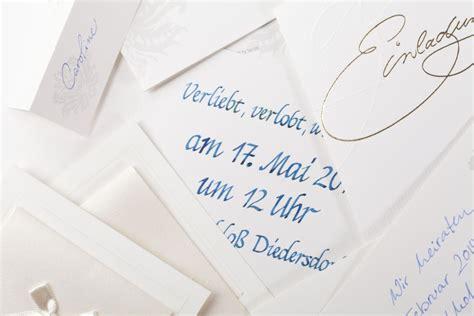 Hochzeitseinladung Handgeschrieben by Schreibstatt Federf 252 Hrend Seit 2013