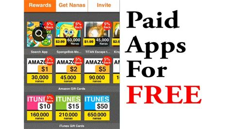 Apps To Get Free Gift Cards - how to get paid apps gift cards for free with appnana youtube