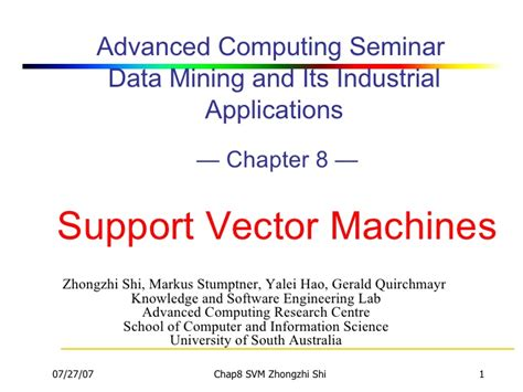 tutorial support vector regression support vector machines