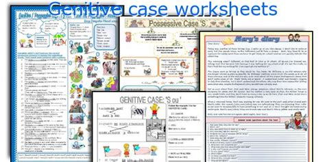 genitive case english exercises english teaching worksheets genitive case