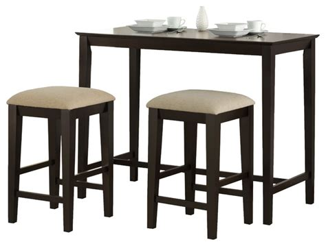 48 kitchen table cappuccino oak veneer 24 quot x 48 quot counter height kitchen table transitional indoor pub and