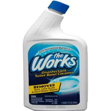 the works bathroom cleaner the works 32 oz toilet bowl cleaner 03310wk the home depot