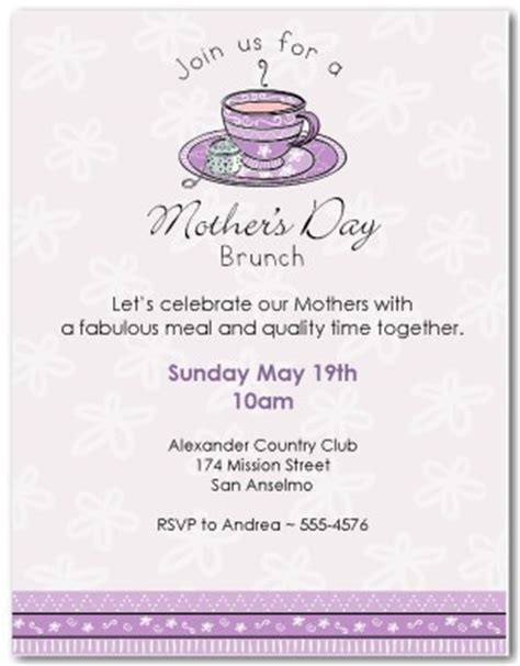 printable mother's day brunch invitation template