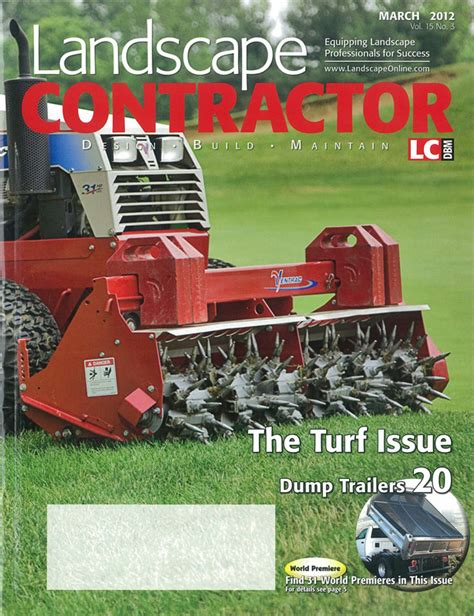 landscape contractor magazine features ventrac on cover