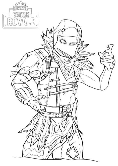 Fortnite Battle Royale : Raven - Coloriage Fortnite Battle