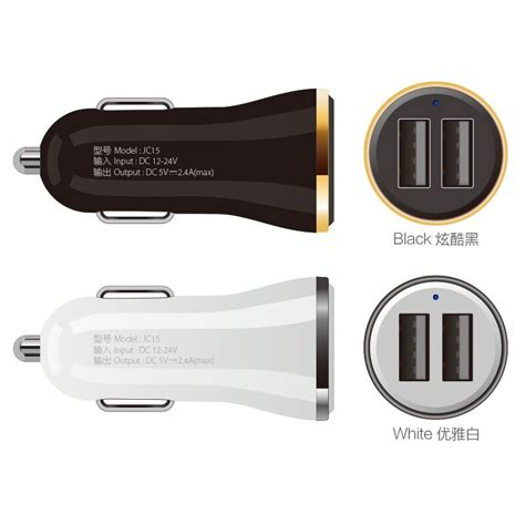 joway 2 usb output car charger 2 4a max real fast charge for iphone 6s 6 plus se for samsung s6