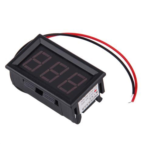 Voltmeter Auto by 12v 24v Auto Digital Led Voltmeter Car Voltage