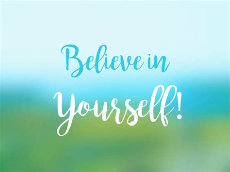 Believe Yourself if you believe in yourself anything is possible eft
