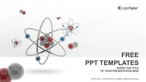 free ppt themes chemistry 3d atom model powerpoint templates
