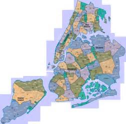 Map Of New York City Suburbs by New York A City Of Neighborhoods Map New York Ny Mappery