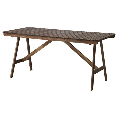 ikea outdoor bench table falholmen table outdoor grey brown stained 153x73 cm ikea