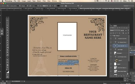 design templates tri fold take out menu menu templates