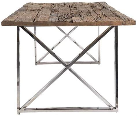 recycled wood dining table buy kensington recycled wood rectangular dining table