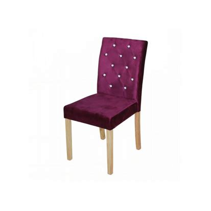 Purple Velvet Dining Chairs Purple Crushed Velvet Dining Chairs With Diamante Detail Fads