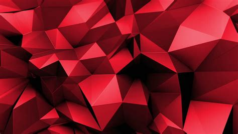 dark red geometric tech background with triangles video