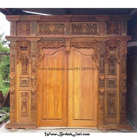 Kusen Pintu Model Gebyog Antik Jati Jepara pintu gebyok kayu jati finishing mewah berkah jati