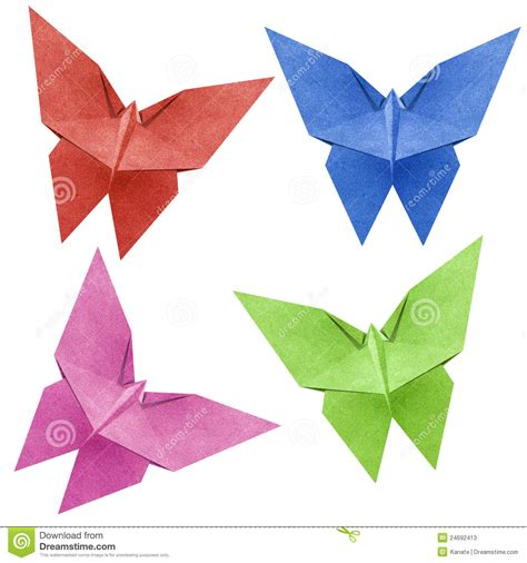 Butterfly Papercraft - origami butterfly recycle papercraft stock photos image