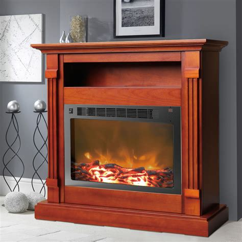 Mantel For Fireplace Insert Fireplace Mantel With Electronic Fireplace Insert