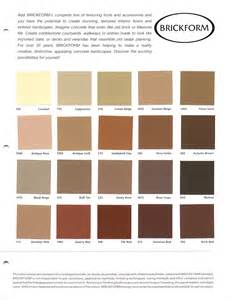 brickform color chart brickform color chart te concrete colors hakk