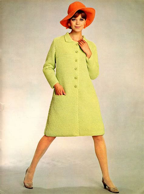 women in their 60s fashion beautiful knitted dress fashion of the 1960s vintage