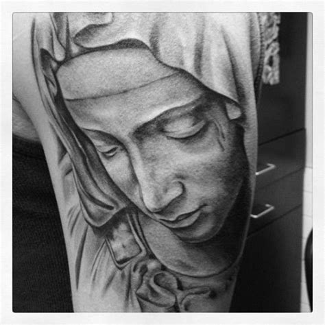 christian tattoo artist vancouver virgin mary tattoo by adrenaline vancity tattoo artist