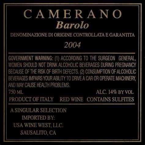 camerano barolo 2004 camerano barolo wine library