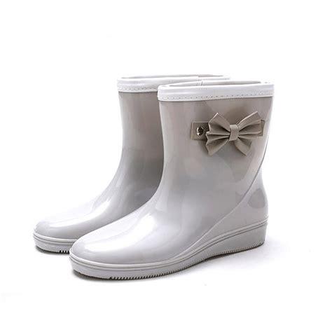 comfortable rubber boots new women fashion non slip comfortable pvc rubber slip on