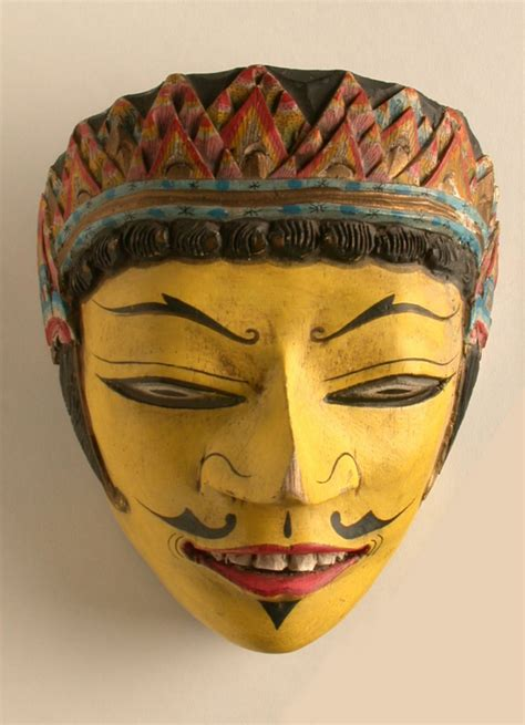How To Decorate Indian Home Laksmana Mask Java Indonesia Object Lessons Ceremony
