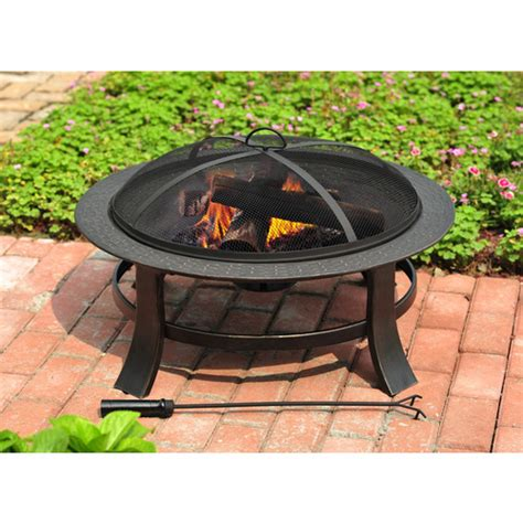 Metal Firepit 30 In Metal Pit 39 Lowes