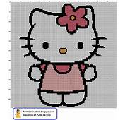 Esquema Pdf En Punto De Cruz Hello Kitty Flor