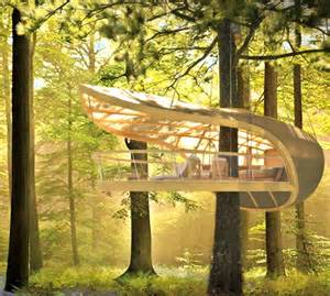 hanging hotel c in a trunk friendly tree house retreat