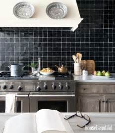 black kitchen tiles ideas kitchens with a black and white backsplash megan morris