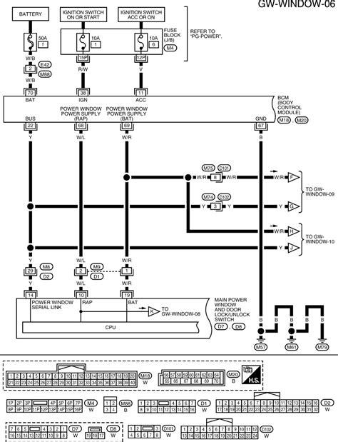 wiring diagram of power window system wiring diagram