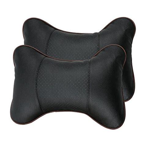 car seat pillow leeko 2pcs leather car seat pillow breathable car