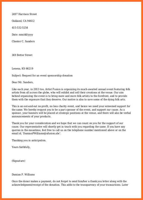 sle letter asking for donations from charity donation sle letter template in donation letter sle