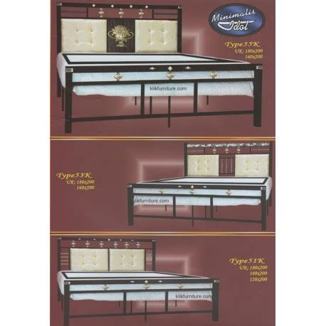 Ranjang Besi Ukuran 180 harga ranjang besi aloha db 51k 53k 55k agen furniture