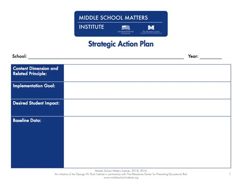 smart format business plan action plan templates pdf and fixable forms from middle