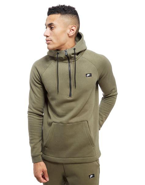 Jaket Zipper Hoodie Sweater Nin Hitam lyst nike modern 1 2 zip hoodie in green for