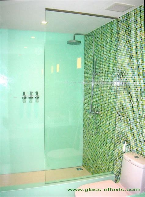 Glass Shower Doors And Walls Glass Shower Wall No Door Bath Remodel