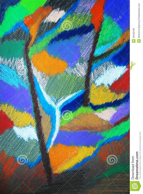 32896 Black White Yellow Collage S M L Top in the forest abstract pastels colorful drawing stock