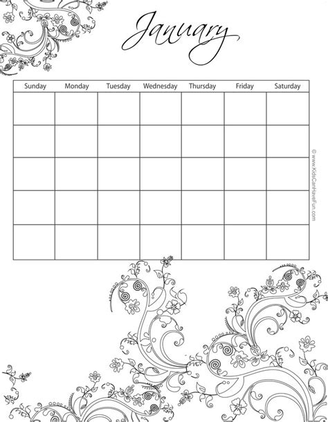 printable calendar to color 17 best images about printable calendars monthly