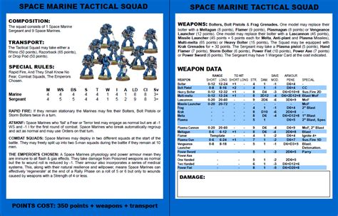 warhammer 3rd edition card template the warhammer 40k 2nd edition revival project page 2