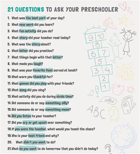 21 questions to ask your preschooler club