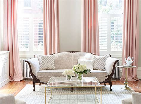 Gold Living Room Curtains Decorating Home Inspiration Decorating With Blush Pink The Green Eyed