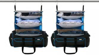 luggage with shelves the weekend bag transforms into a pre stocked