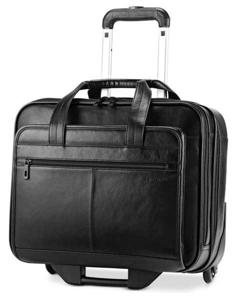 Mont Blanc Office Bag Elg97143 samsonite leather rolling mobile office briefcase in black
